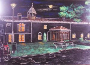 Нощ над храма в Сливен